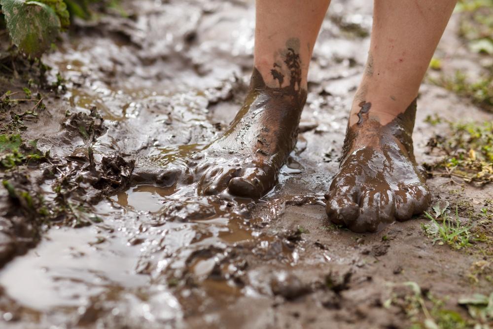 lama nos pés